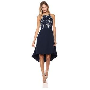 Women's Embroidered Sequin High Low Gown